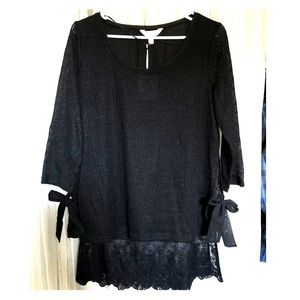 Lauren Conrad shirt with lace trim💛🌟